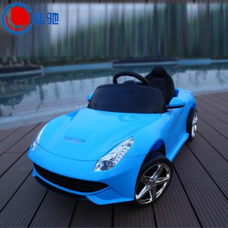 Livraison gratuite enfants voiture électrique peut s'asseoir quatre roues motrices double poussette bébé enfant voiture avec télécommande tour sur voiture jouet