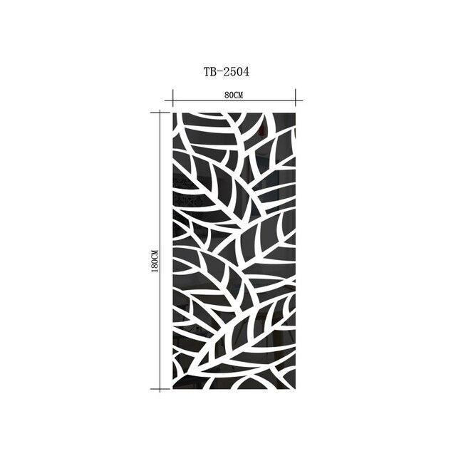 3D DIY Mirror Sticker Wall Sticker Mirror Wall Decal Mosaic Room Decorations Plant Pattern Self-adhesive Mirror Stickers