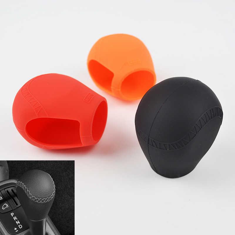 Для Benz Smart Fortwo 07-17 силиконовая Автомобильная оболочка рукоятки рычага переключения передач цельнокроеные головки передач Чехлы для кожи Нескользящие ручной тормоз чехол для ключей коврик