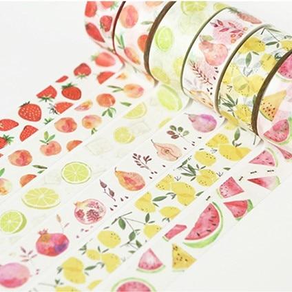 Свежие фрукты васи лента DIY Декор планировщики Скрапбукинг стикер делая бумагу украшение клейкая лента школьные принадлежности для вечери...
