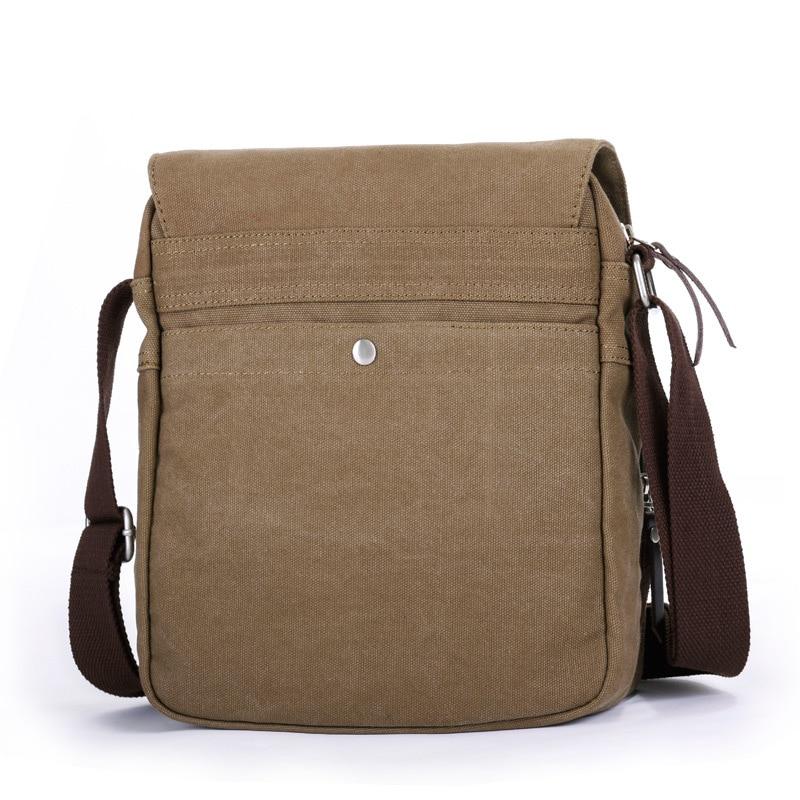 461628cc78d8 Eshow Men s Messenger Bags Black Brown Khaki Male Man Bag Men Vintage Small  Canvas Shoulder Bag Cross body Bags Bolsa BFK010401-in Crossbody Bags from  ...