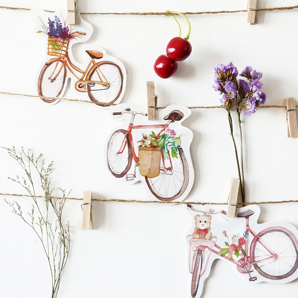 30pcs/lot Japanese Irregular Postcard Bicycle Bike Kawaii Cartoon Postcards Cute DIY Envelop Gift Card Creative Bookmark