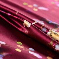 Dijital baskı ipek kumaş moda giyim malzemesi streç saten kumaş dikiş elbise DIY stoffen bez tissu au metre telas