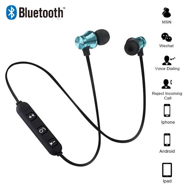 Wireless Bluetooth Earphone Magnetic Headphone Wireless Sports Sweatproof Headset Bass Music Headset for IPhone Xiaomi Headphone