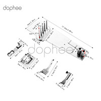 dophee 1 Set Sewing Machine Attachment Complete Binding Attaching Parts For Pfaff 335 Sewing Tools Accessory
