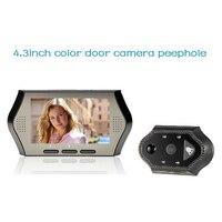 2017 Wireless Door Peephole Camera 4 3 Inch LCD 0 3M Pixels IR Night Vision PIR