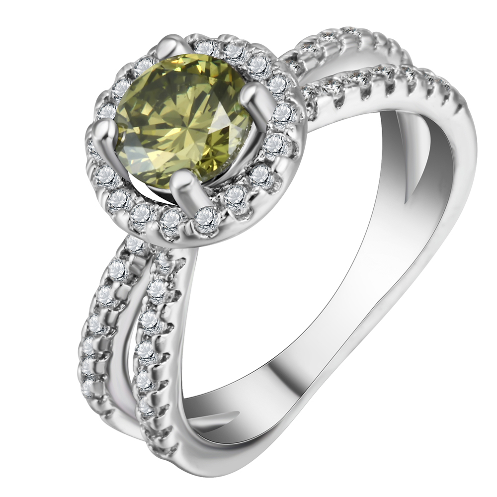 2017 поступление крест дизайн зеленый фианит обещание кольца обручальные кольца для женщин Свадебные Подарок на годовщину Jewellery