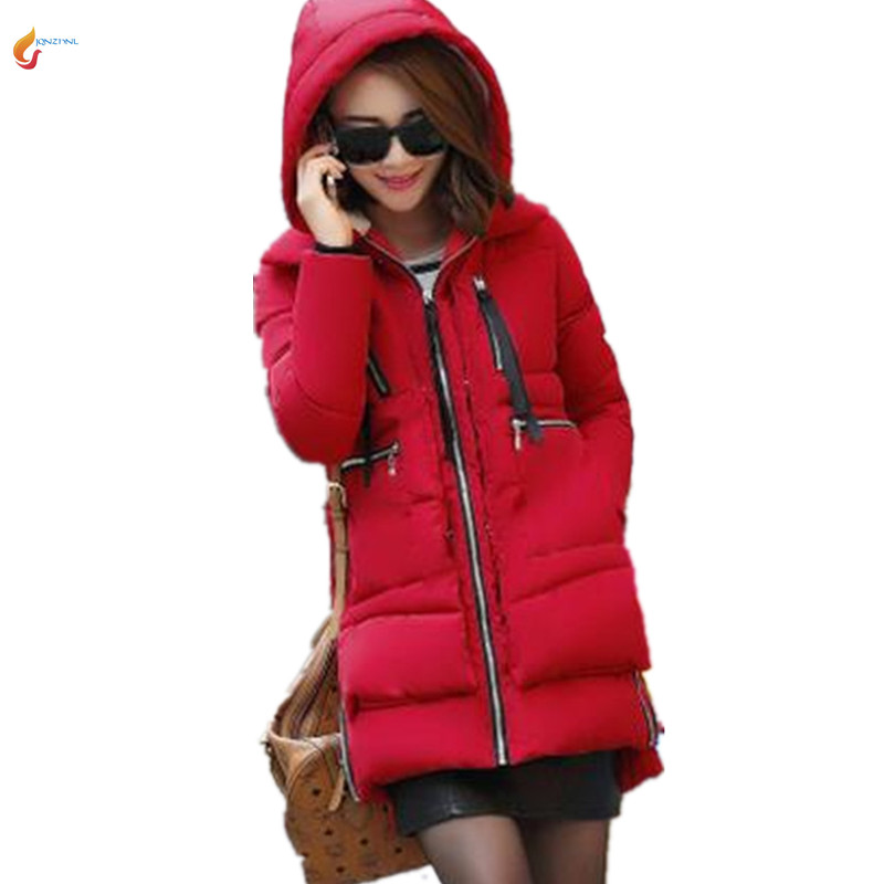 Women Winter Parka Snow Wear Plus Size M-5XL Down Cotton Wadded Jacket Coat Tooling Thickening eMdium-long Loose Outerwear G296 цены онлайн