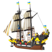 Enlighten Pirate Series Adventure Number Pirates Ship Boat Building Blocks Sets Bricks Kids Educational Toys недорго, оригинальная цена