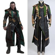 Avengers Thor The Dark World Loki Cosplay Costume Long Coat