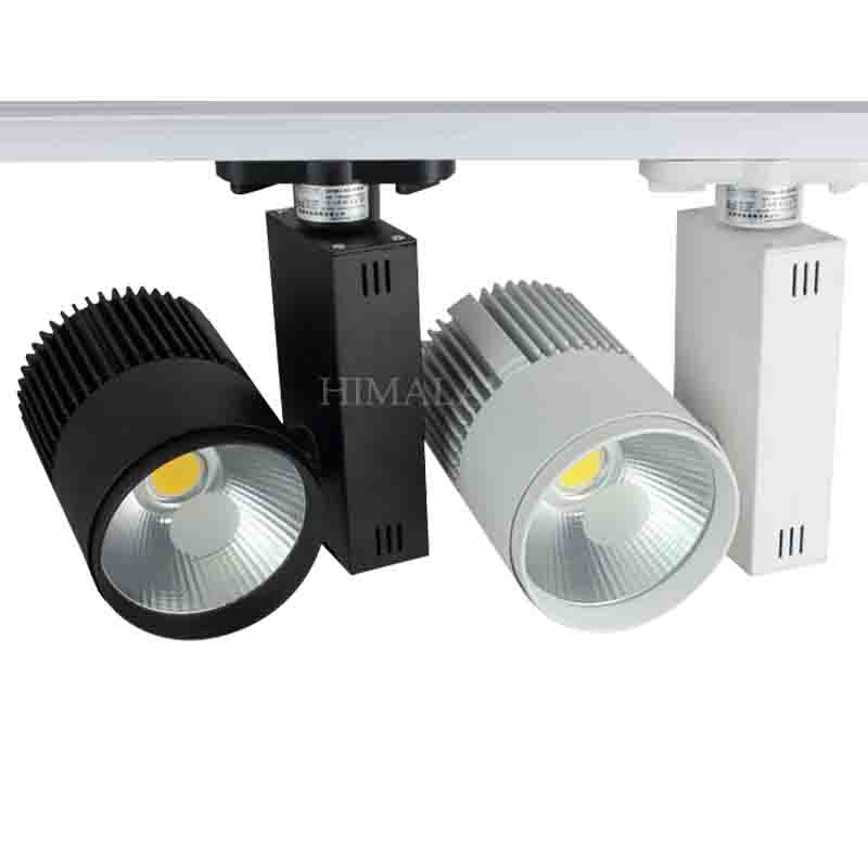 Toika Fedex 10pc/lot 20w LED cob track light for store/shopping 2 wire Color optional White/black Spot light