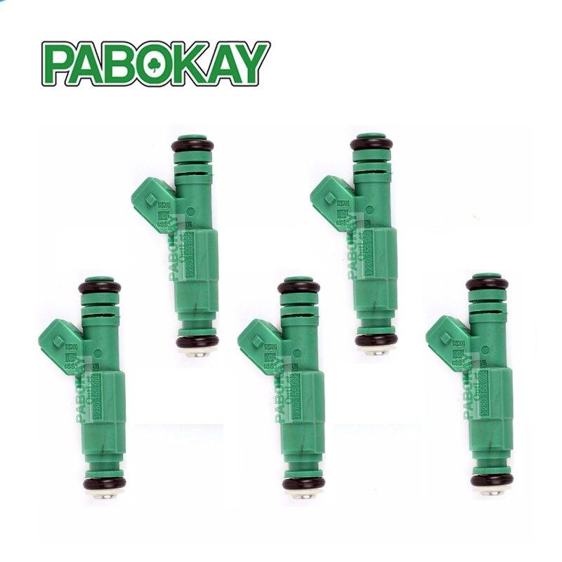 5 pieces x 42lb Green Giant Fuel Injectors 42 lb/hr Turbo 1.8T 2.3 T 440cc 13586335 22853741 20923680 25920615 0280155968