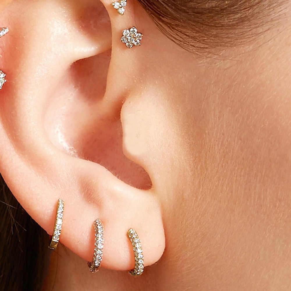 e21df0c66de2e Detail Feedback Questions about 1 Pair golden fill Huggies Earrings ...