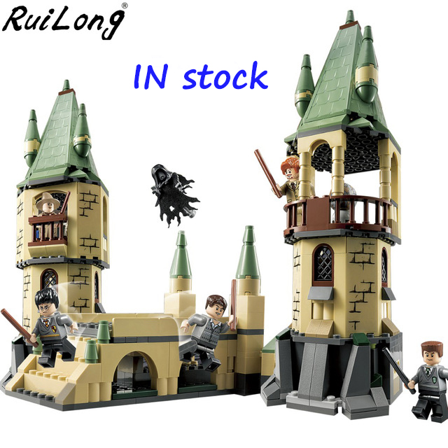 New Harry Potter Serices Hogwarts Castle Defense War Blocks Bricks Compatible With legoINGLY Model Building Toys Children 16028