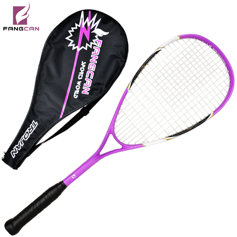 (2pc/lot) FANGCAN aluminum squash racquet high-end titanium brand squash racket cover and grip as gift
