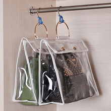 DINIWELL Hanging Handbag Organizer For Wardrobe Closet Transparent Storage Bag Door Wall Clear Sundry Shoe Bag With Hanger Pouch