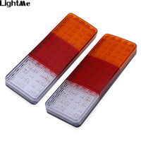 2pcs Pair 12V Car Rear Tail Signal Indicator Light 75 LEDs Shockproof Waterproof Signal Lamps Lights