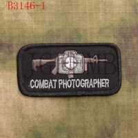 SealTeam Combat Photographer Military Tactical Morale Embroidery Patch