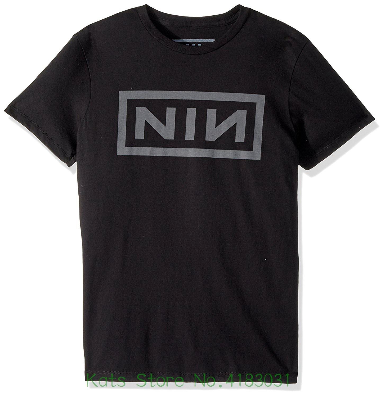 Merchandising Mens Nine Inch Nails Adult Short Sleeve T-shirt Cotton Fashion Men T Shirt