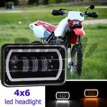 """1 pz 4×6 """"HA CONDOTTO La lampadina di cristallo trasparente sigillato proiettore abbagliante DRL4x6"""" LED Conversione Faro Della Lampada per Honda per Suzuki DRZ"""