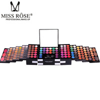 MISS ROSE Make Up Set 142 Color Glitter Eyeshadow Pallete Shadows Professional Makeup Box Matte Eye Shadow Blush Eyebrow Palette
