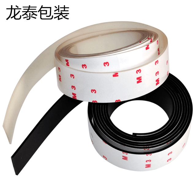 3cm*1m two color anti slip silicone rubber plastic bumper damper shock absorber 3M selfadhesive silicone feet pads for furniture