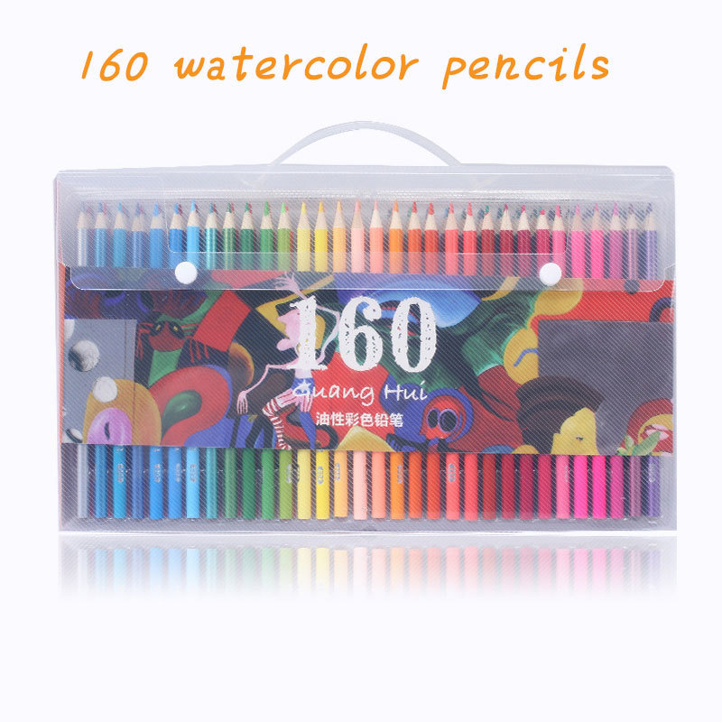 160 crayons Pastel crayons aquarelle doux crayons de couleur bois ensemble pour dessin peinture croquis Art fournitures cadeaux pour enfants