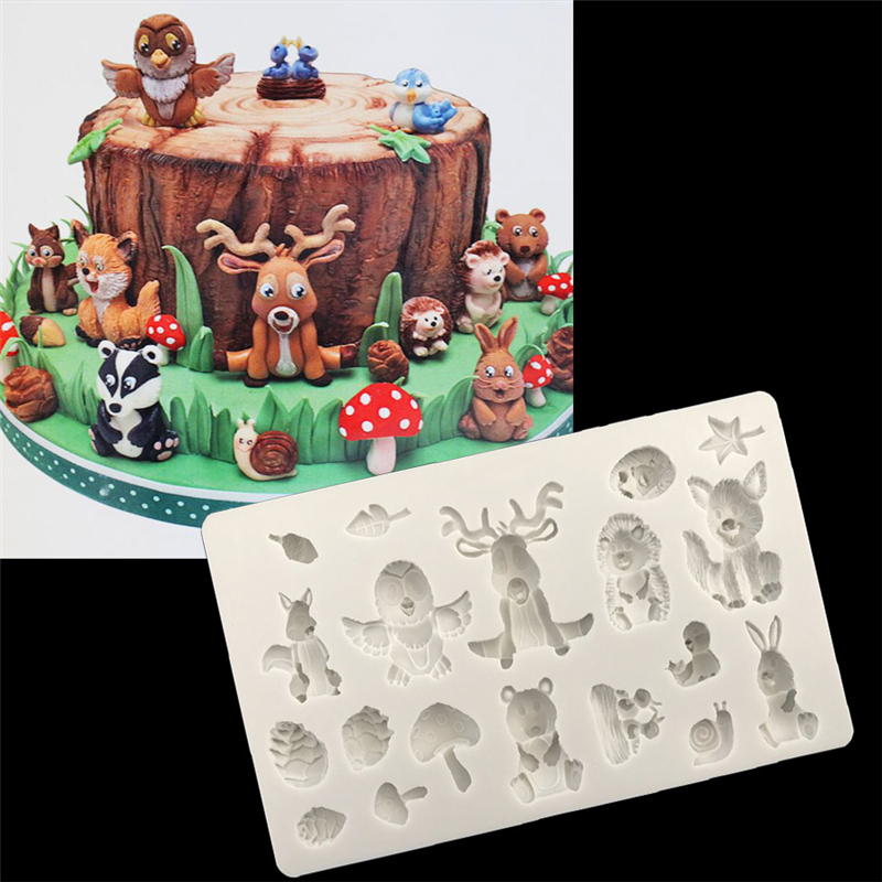 1PC Animals Leaves Silicone Fondant Mold 3D Craft Chocolate Candy Tools Cake Decorating Mold Baking Accessories Tools D006