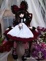Святого Валентина DayAristocratic BJD SD кукла одежда куклы платье Лолита платье горничной 1/4-Бордо