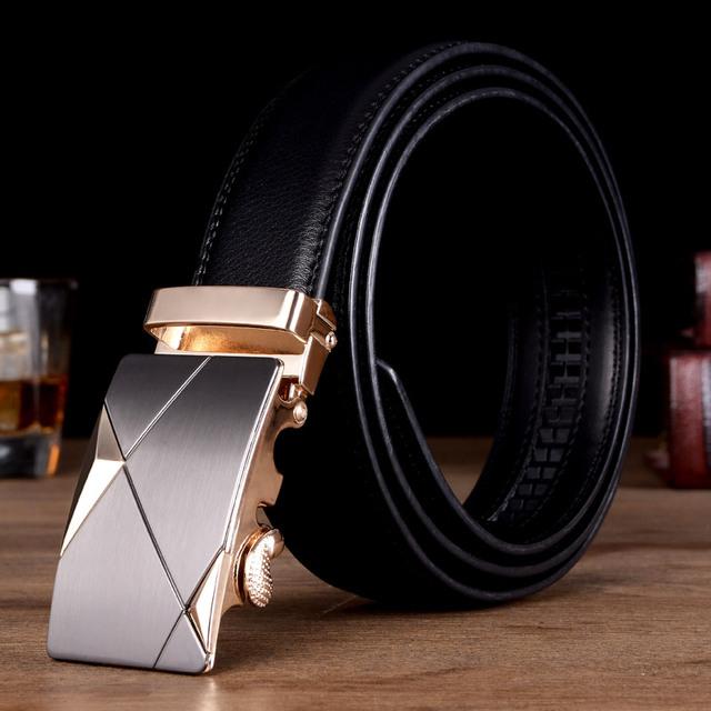 Cinturón de cuero de vaca