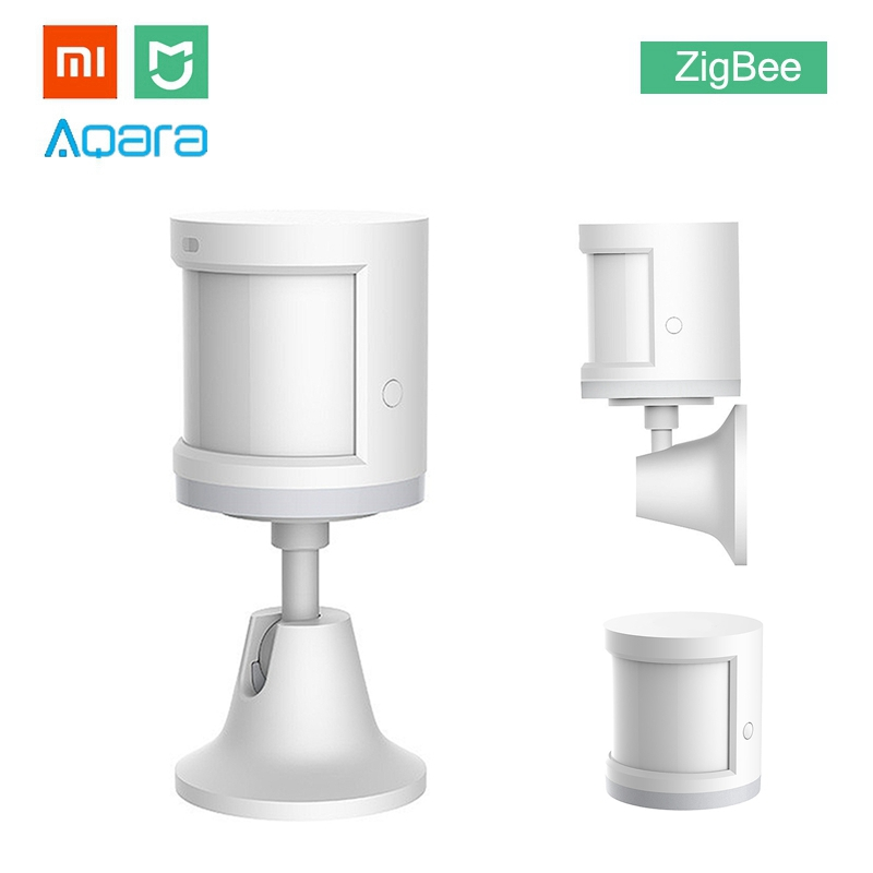 Xiaomi Aqara MIJIA Human Body Sensor ZigBee Version Wireless WiFi With Holder Smart Mi Home APP for Gateway Hub iOS Android new updated xiaomi aqara human body sensor smart body movement motion sensor zigbee connection mihome app via android