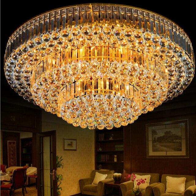 Led modern living room crystal lamp bedroom ceiling lamp cake round led modern living room crystal lamp bedroom ceiling lamp cake round lighting fixtures for bedroom livingroom mozeypictures Gallery