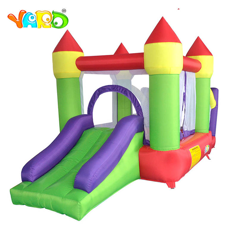 лучшая цена YARD Inflatable Castle Bouncer Games for Kids Combo Jumping Trampoline Bouncy Castle Christmas Gift Ship Express Door To Door