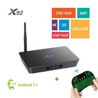 X92 Smart TV Box Android 7 1 Amlogic S912 Octa Core 2GB 3GB 16GB 32GB 5G