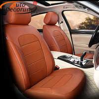 AutoDecorun housse en cuir véritable sièges pour Dodge Journey JCUV housses de siège 2009-2018 accessoires peau de vache protecteur de voiture 20 pièces/ensemble