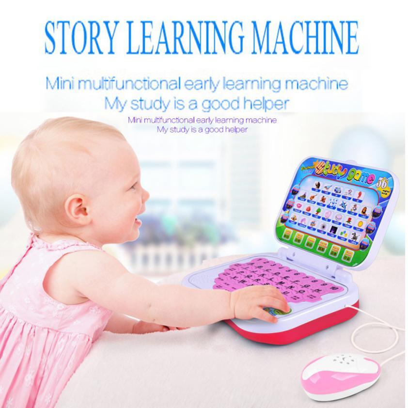 Многофункциональные развивающие Обучающая машина Английский Планшеты игрушки малыша + Мышь Тканевые книги челнока y717