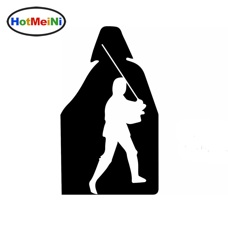 HotMeiNi Sci-fi Movie Cartoon Hero Games Luke Skywalker Darth Vader Car Sticker for Motorcycles Reflective Vinyl Decal 10 Color