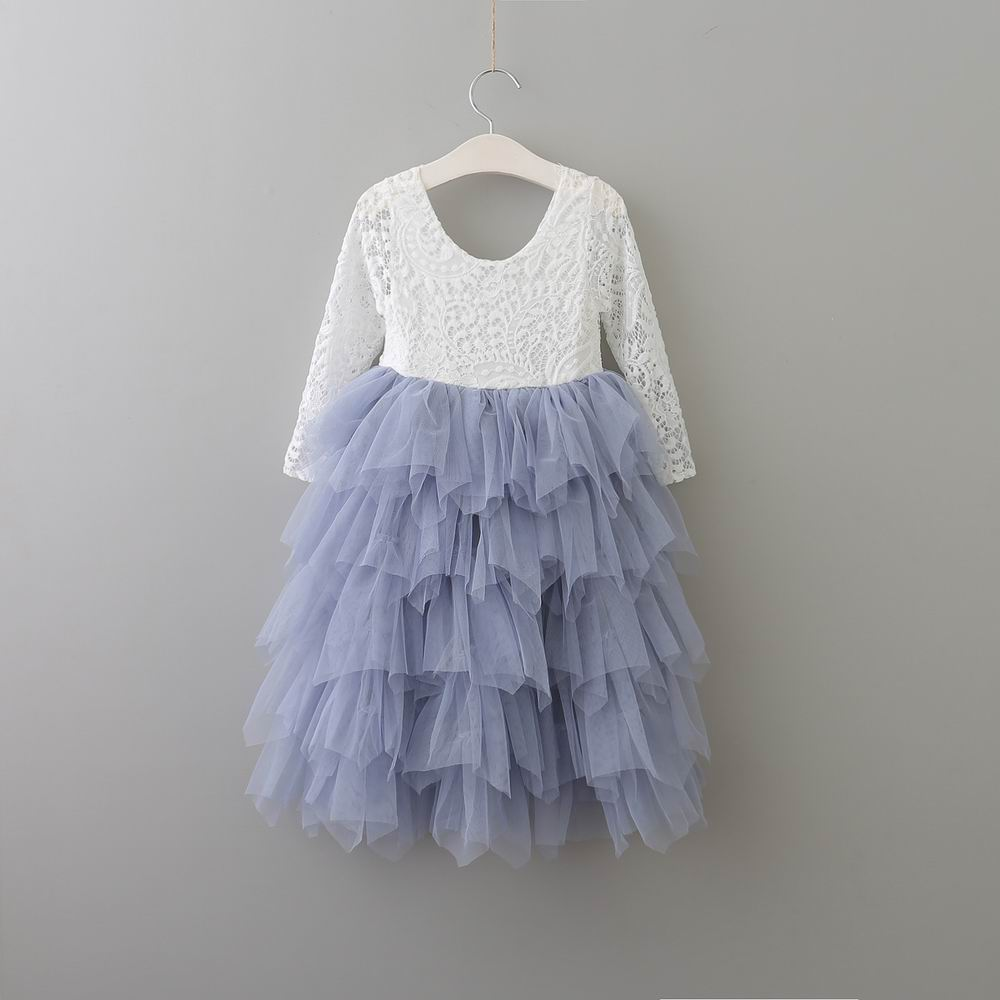 353566a9d21 Everweekend Girls Princess Tutu Party Dress Lace Dress Tulle Maxi Ruffles  Holiday Dress Candy Pink and Purple Christmas Dress-in Dresses from Mother    Kids ...