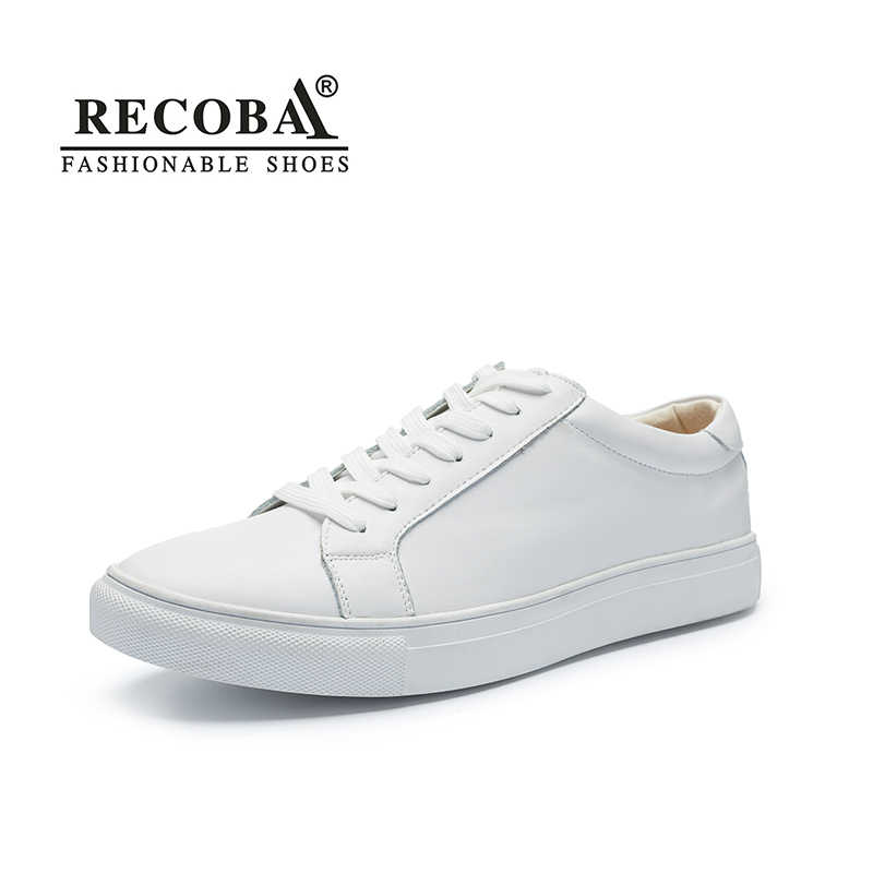 ef7e73bb2 Men shoes casual white sneakers male luxury brand big size genuine leather  flat skate shoes slip