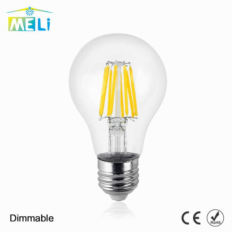 Bombillas E27 Dimmable אדיסון זכוכית מנורת A60 Led נימה הנורה 8 W 12 W 16 W עתיק רטרו בציר Led הנורה 220 V