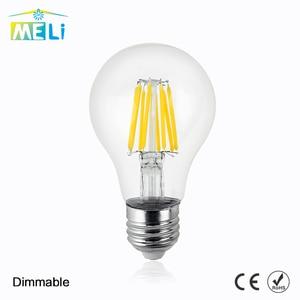 Bombillas E27 Dimmable Edison Glass Lamp A60 Led Filament Bulb 8W 12W 16W Antique Retro Vintage Led Bulb 220V(China)