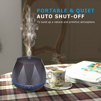 XieCheng 500ml Remote Control Ultrasonic Air Aroma Humidifier With Wood Grain Electric Aromatherapy Essential Oil Aroma