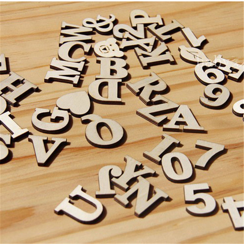 Wood Letters Diy Wooden Letters Numbers And  Symbol Heart & Pattern Decorative  Used For Home Wedding  Decorations