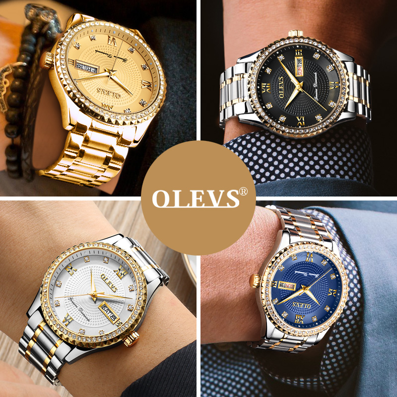 Watches men 2017 luxury famous brand Day Date Sports Wrist Watch Male Relogio Rhinestones waterproof Quartz Luminous Watch Clock