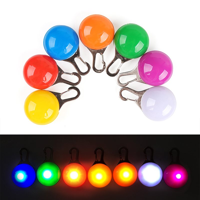 Frank 7pcs/lot Pet Night Safety Led Flashlight Pendant Glow In The Dark Bright Pets Supplies Accessories Cat Dog Collar Leads Lights Fashionable Patterns Pet Products Collars