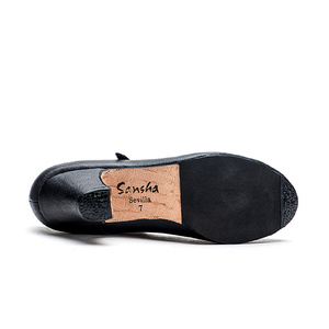 Image 4 - سانشا المهنية الفلامنكو الطابع الرقص الأحذية 6 سنتيمتر الأوسط عالية الكعب للنساء السيدات أسود أحذية رقص FL1CL FL1LS