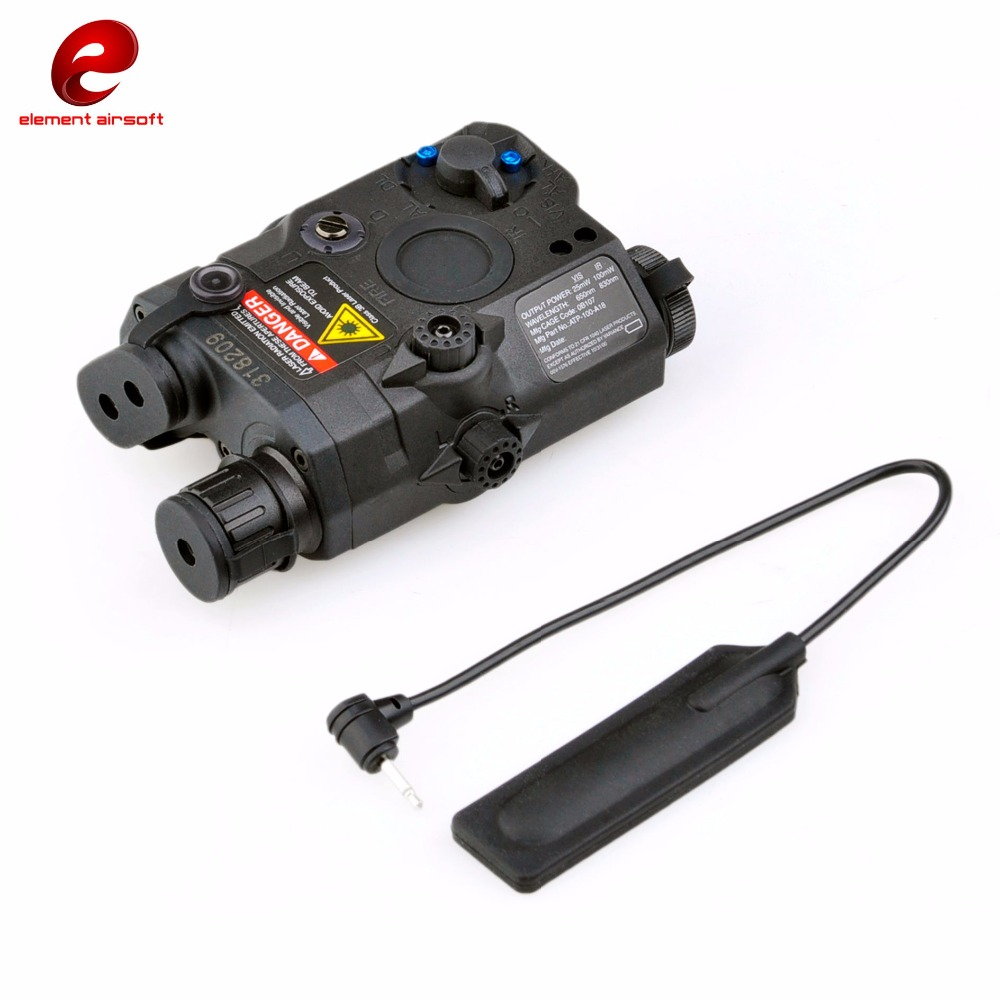 Element Airsoft LA PEQ15 Tactical Flashlight PEQ 15 Led Laser IR Infrared Military Battery Case with Red Laser and IR EX276 sinairsoft tactical peq 15 red laser with white led flashlight torch ir illuminator for airsoft hunting outdoor