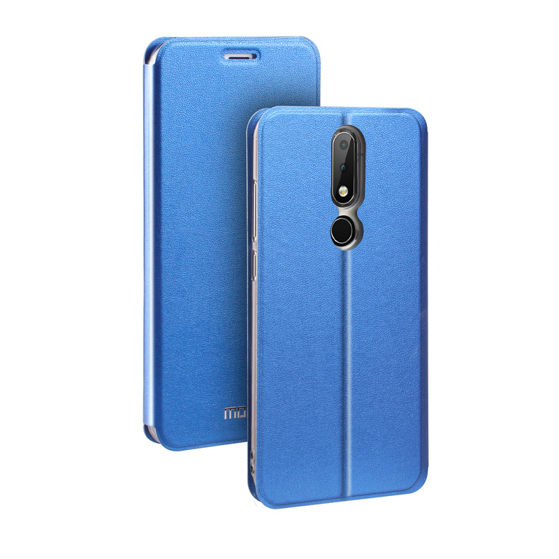 6 Colors For Nokia 6.1 Plus Phone Case Smooth Business Leather Flip Cover Inner Soft Silicone TPU Silicone For Nokia 6.1 Plus