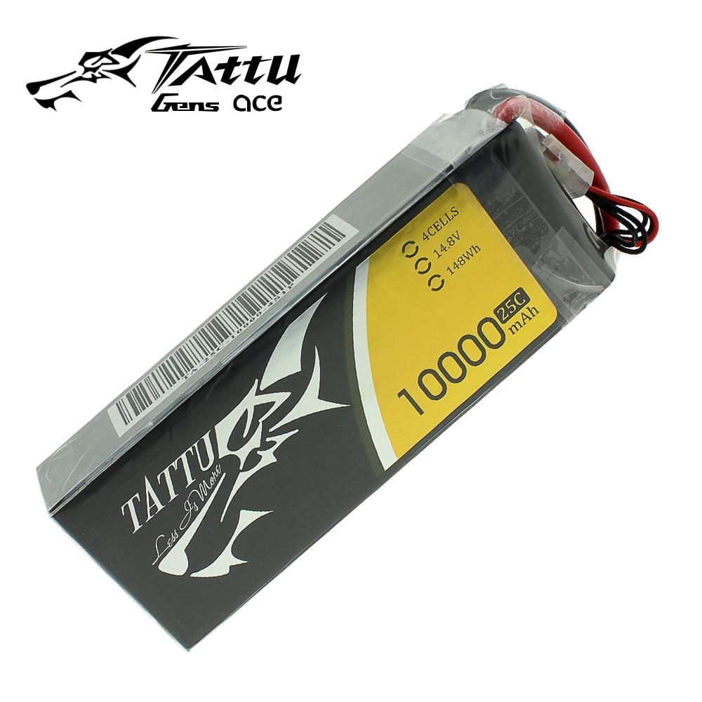 Tattu 10000 mAh 4S 14.8 V 25C 148Wh Lipo Batterie pour Grand modèle réduit d'avion Expérimental Robots et d'autres Dynamiques