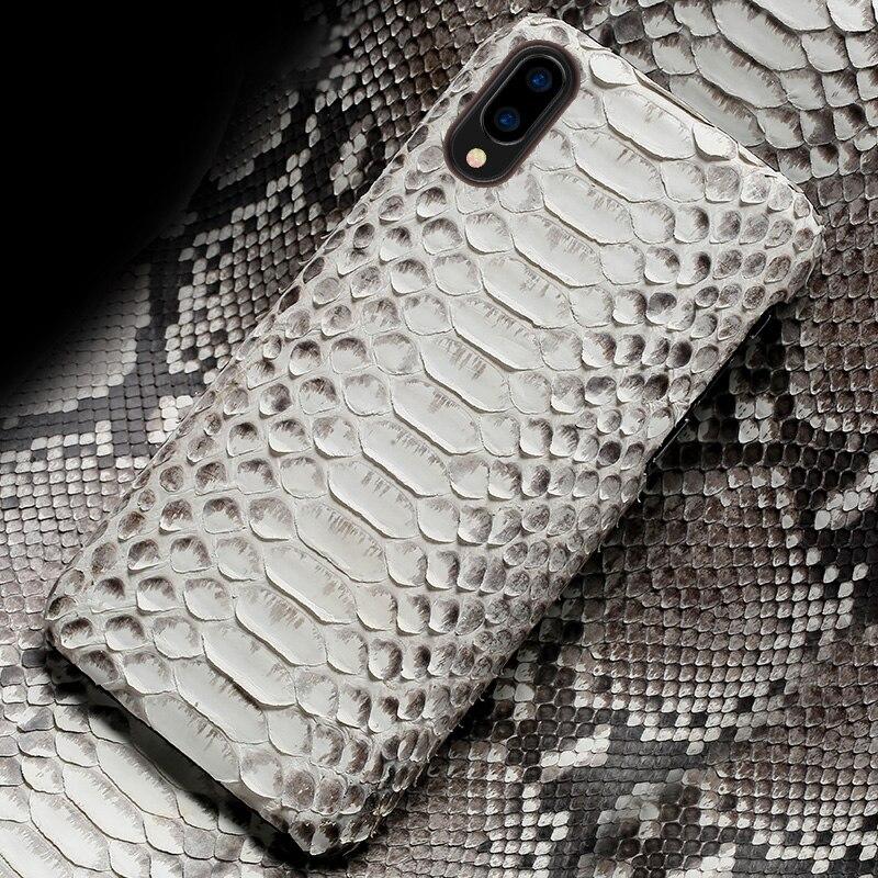 De luxe étui de téléphone pour xiaomi mi 5 6 S 8 A1 A2 lite Max 2 3 mi x 2 S Note 4 4A 4X5 5A Plus Vraiment Python Peau Couverture